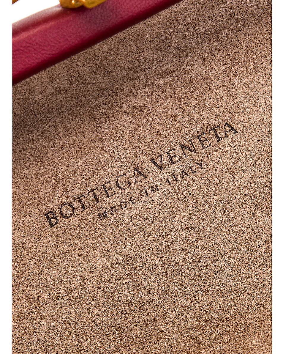Image 7 of Bottega Veneta Woven Leather Crossbody Bag in Bordeaux & Gold