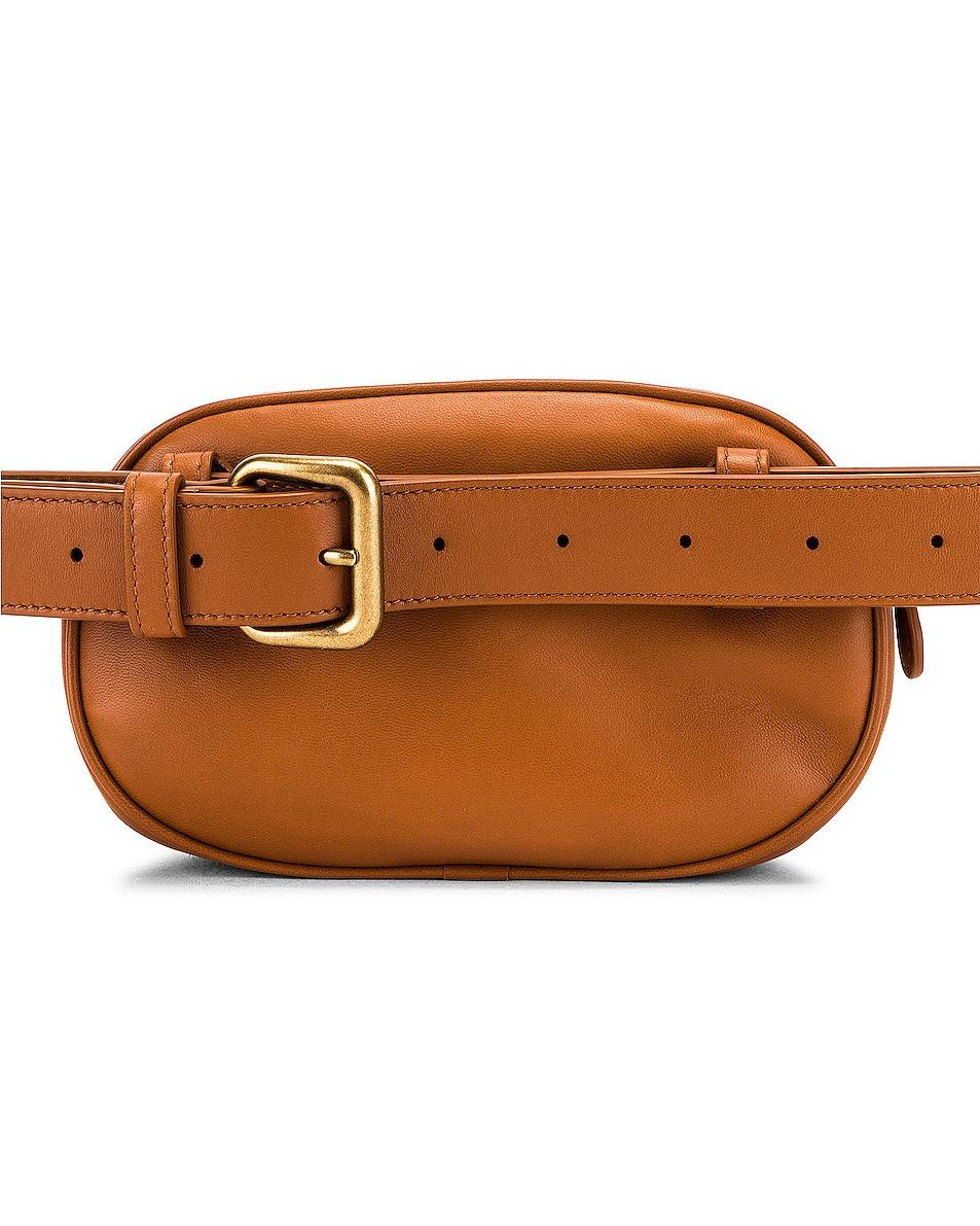 Image 3 of Bottega Veneta Woven Belt Bag in Wood