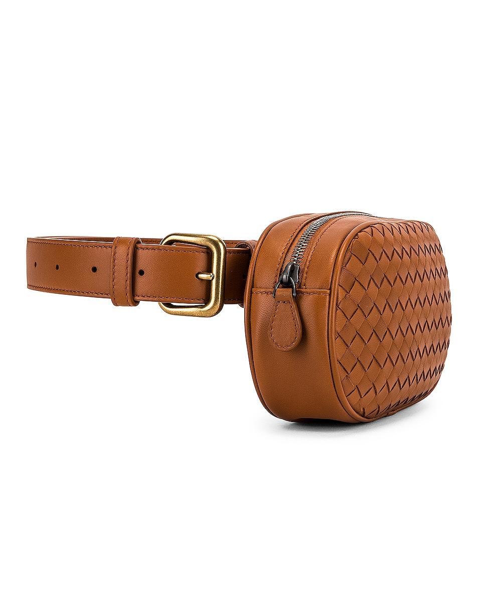 Image 4 of Bottega Veneta Woven Belt Bag in Wood