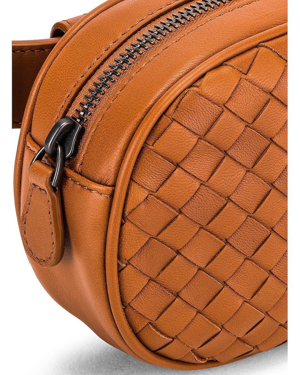 Image 7 of Bottega Veneta Woven Belt Bag in Wood