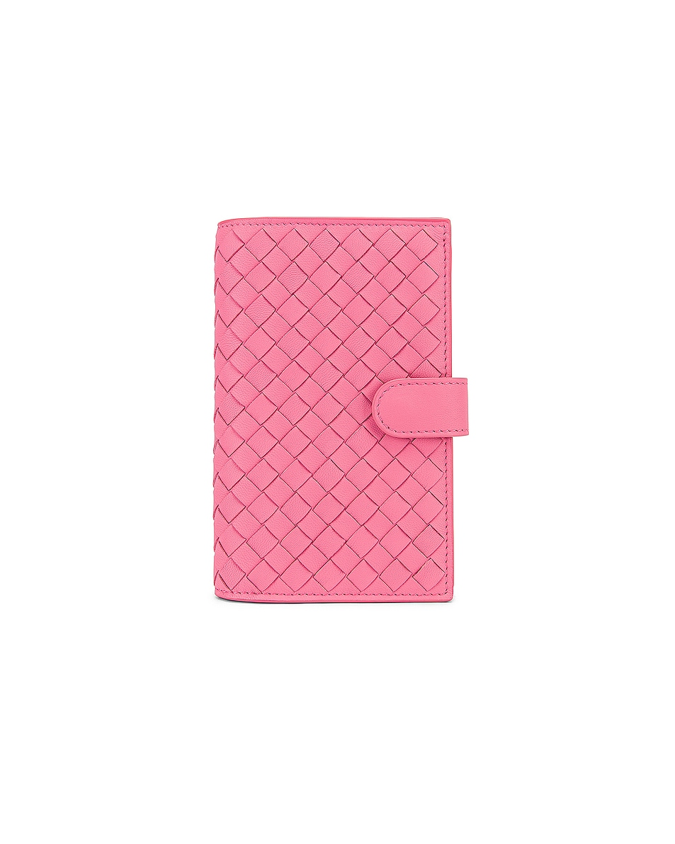 Image 1 of Bottega Veneta Leather Wallet in Rosa