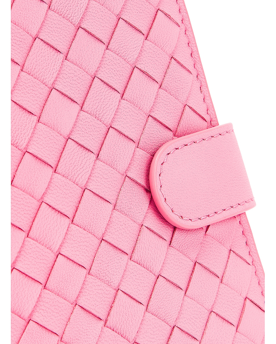 Image 6 of Bottega Veneta Leather Wallet in Rosa