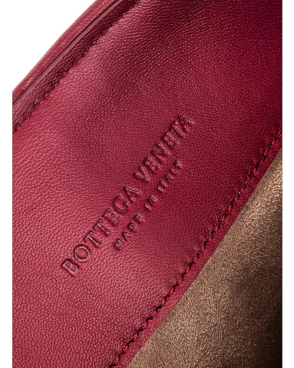Image 7 of Bottega Veneta Woven Shoulder Bag in Bordeaux & Gold