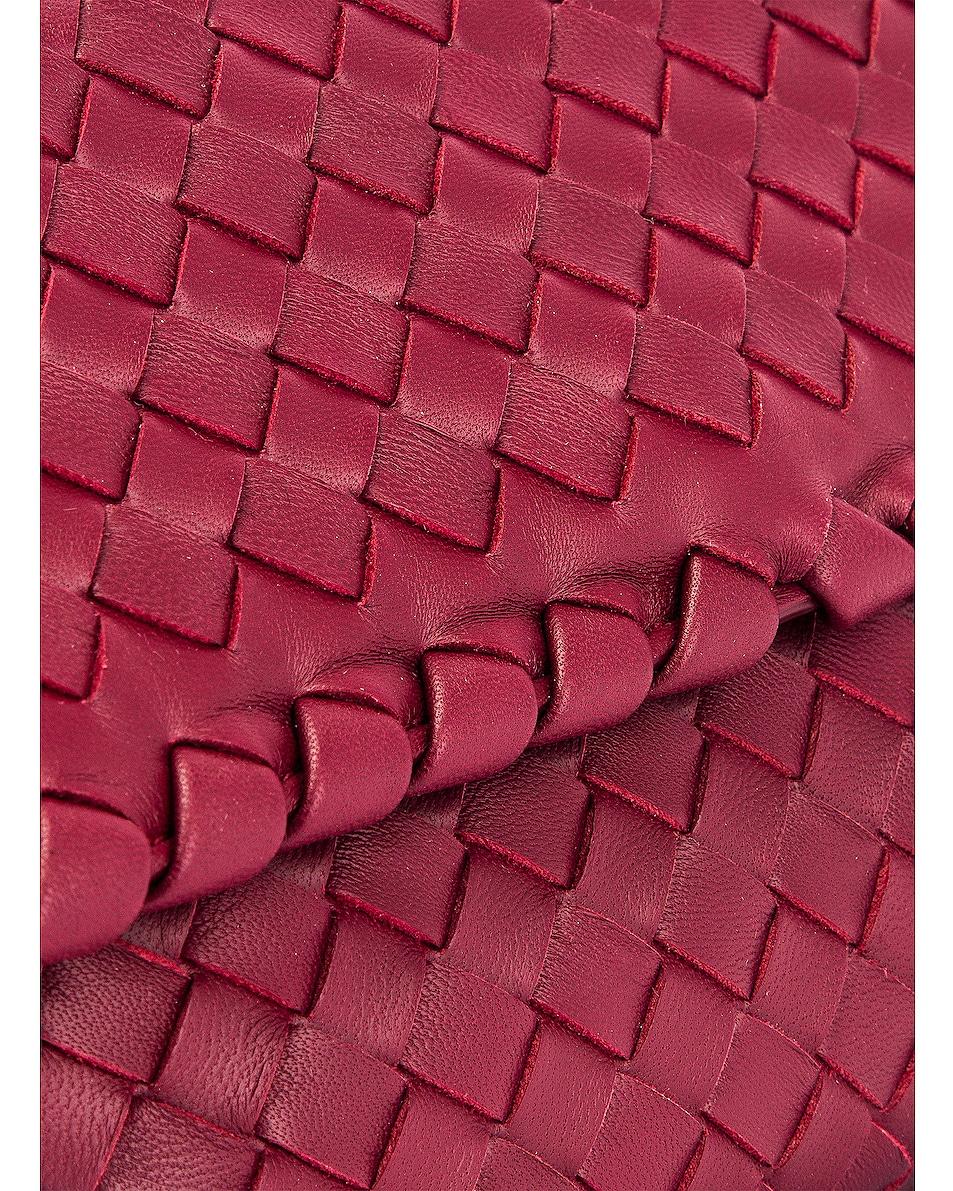Image 8 of Bottega Veneta Woven Shoulder Bag in Bordeaux & Gold