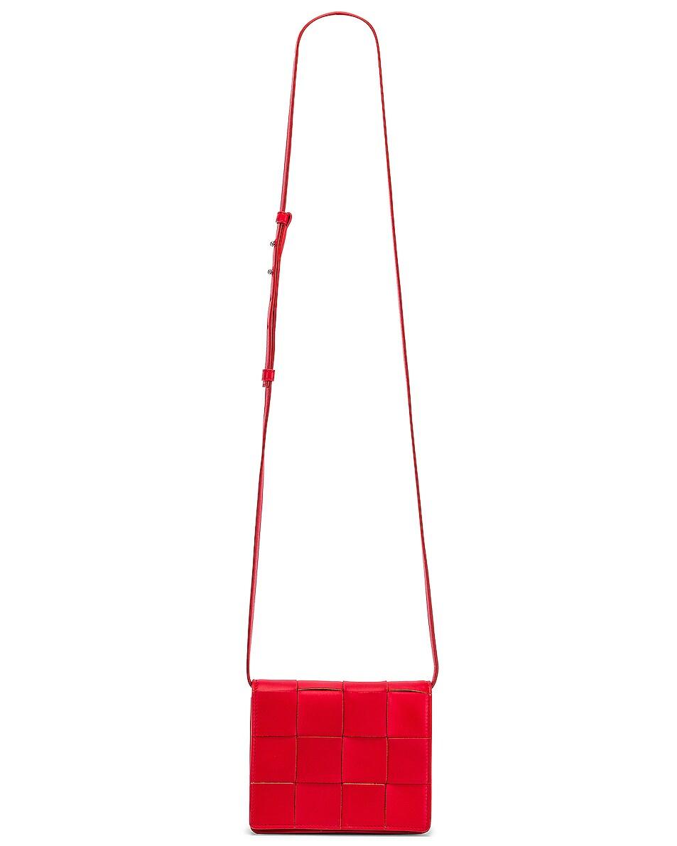 Image 6 of Bottega Veneta Woven Leather Crossbody Bag in Bright Red