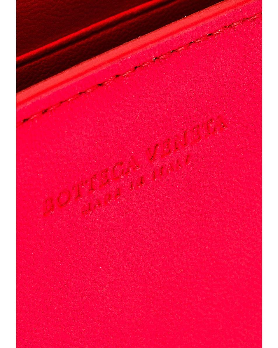 Image 7 of Bottega Veneta Woven Leather Crossbody Bag in Bright Red