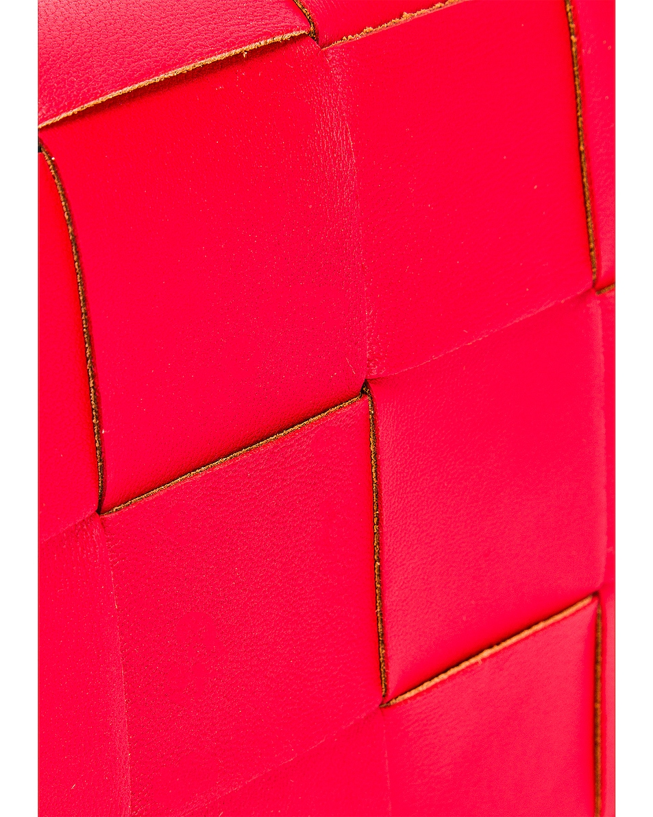 Image 8 of Bottega Veneta Woven Leather Crossbody Bag in Bright Red