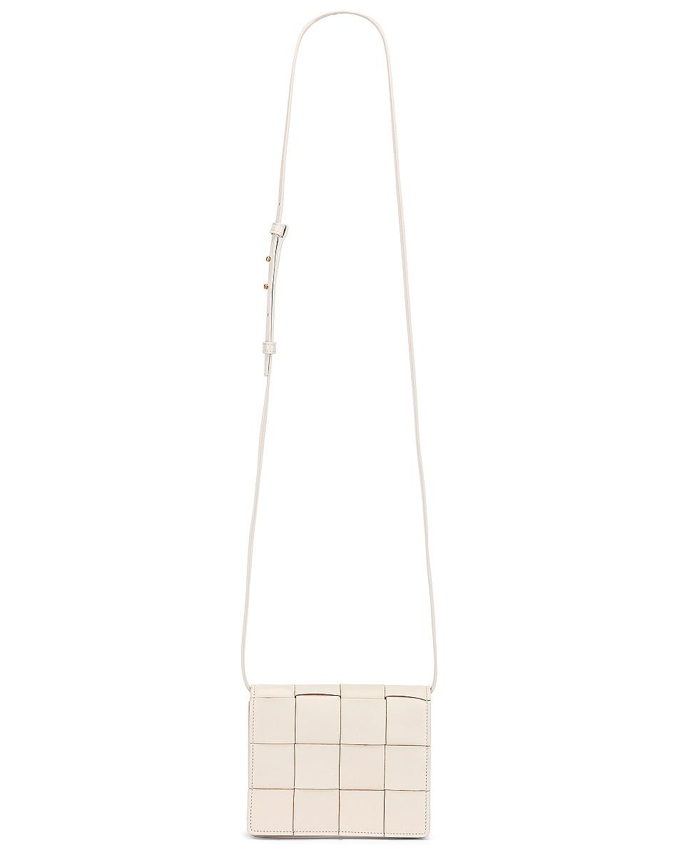 Image 6 of Bottega Veneta Woven Leather Crossbody Bag in Plaster