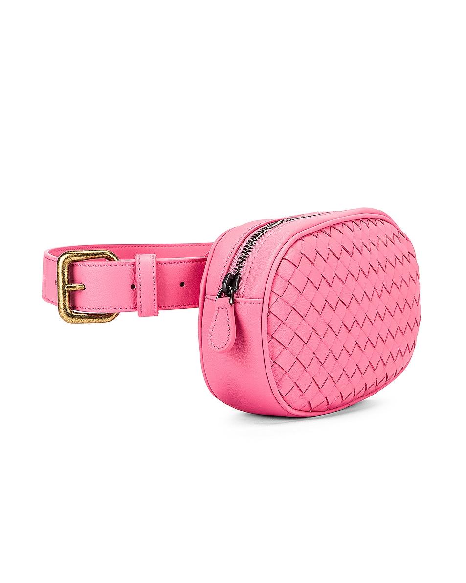 Image 3 of Bottega Veneta Woven Belt Bag in Rosa