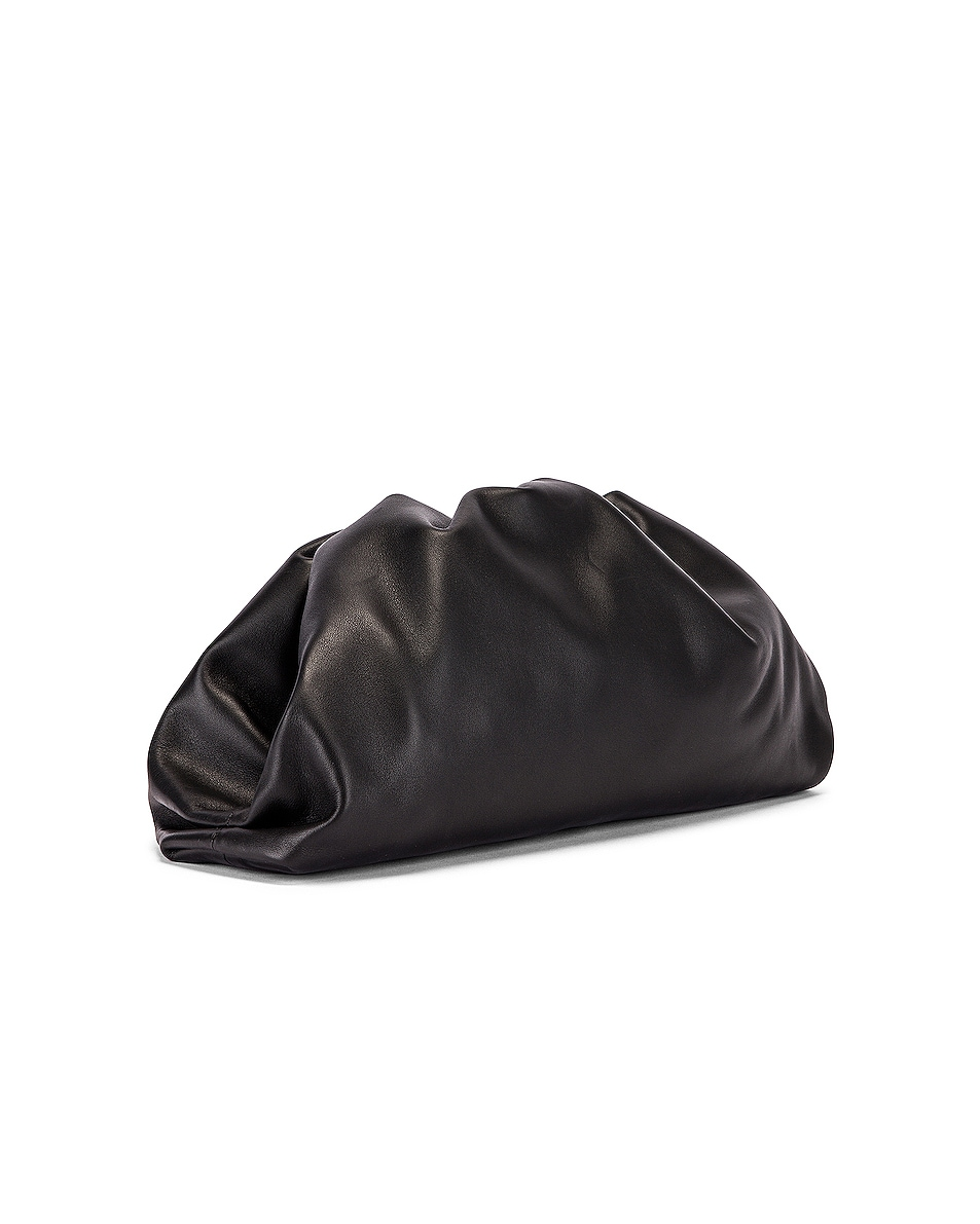 Image 4 of Bottega Veneta Butter Leather The Pouch Clutch in Black & Silver