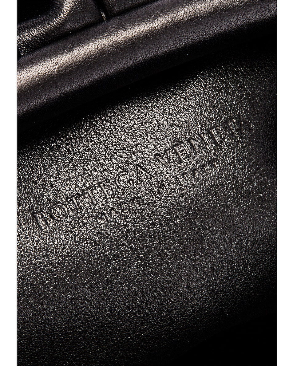 Image 6 of Bottega Veneta Butter Leather The Pouch Clutch in Black & Silver
