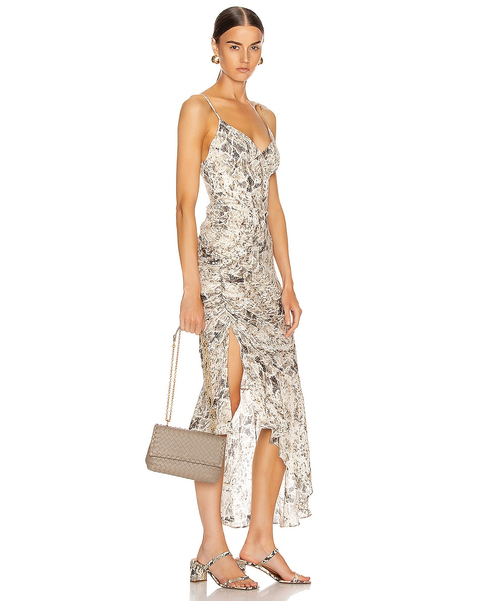 Image 2 of Bottega Veneta Woven Shoulder Bag in Limestone & Gold