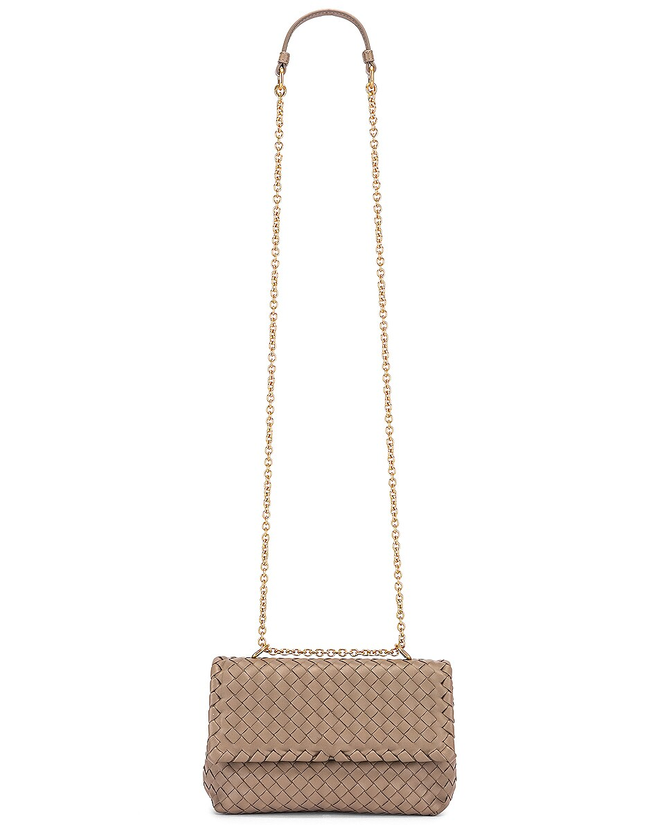 Image 6 of Bottega Veneta Woven Shoulder Bag in Limestone & Gold