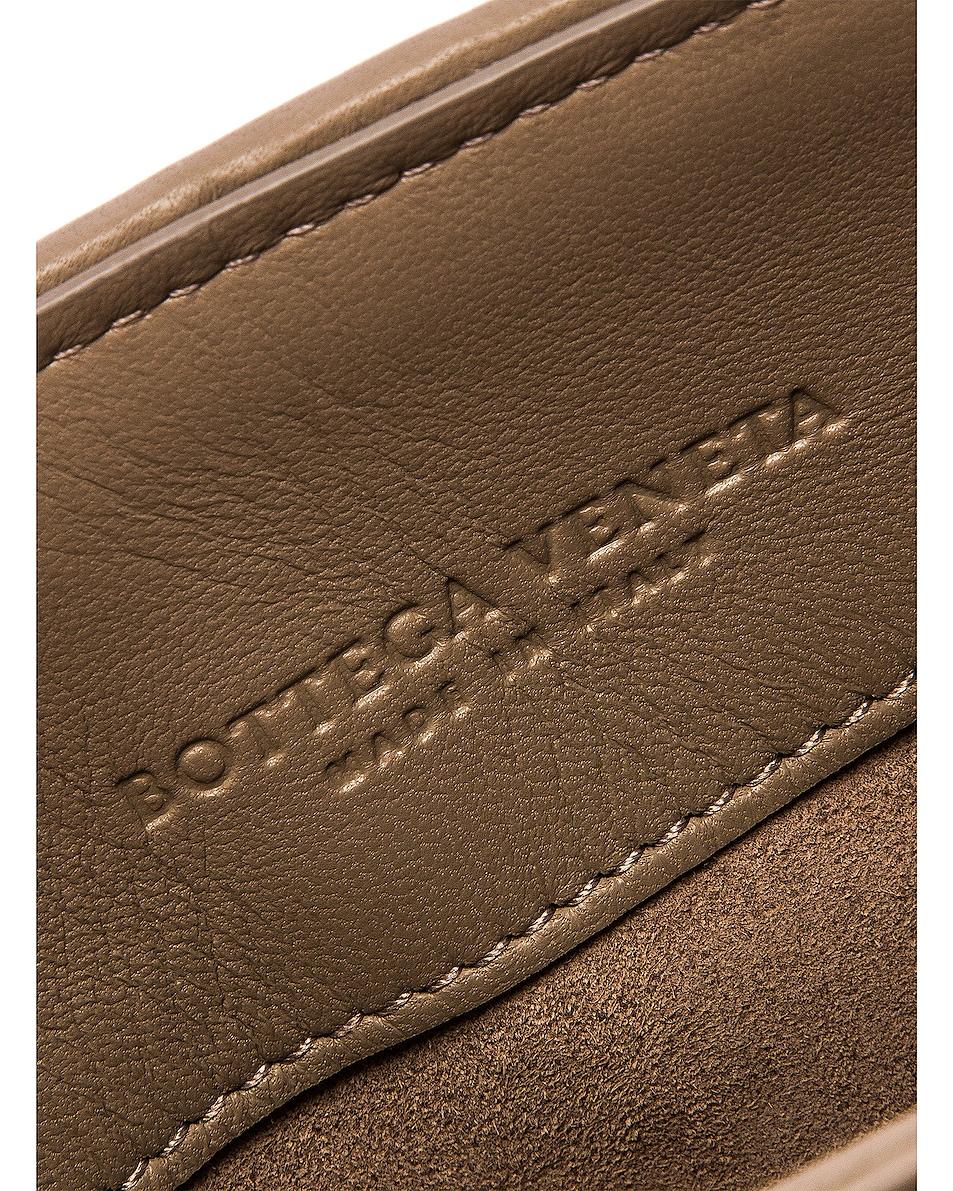 Image 7 of Bottega Veneta Woven Shoulder Bag in Limestone & Gold