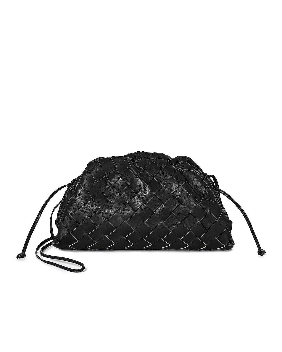 Image 1 of Bottega Veneta Small Woven Pouch in Black
