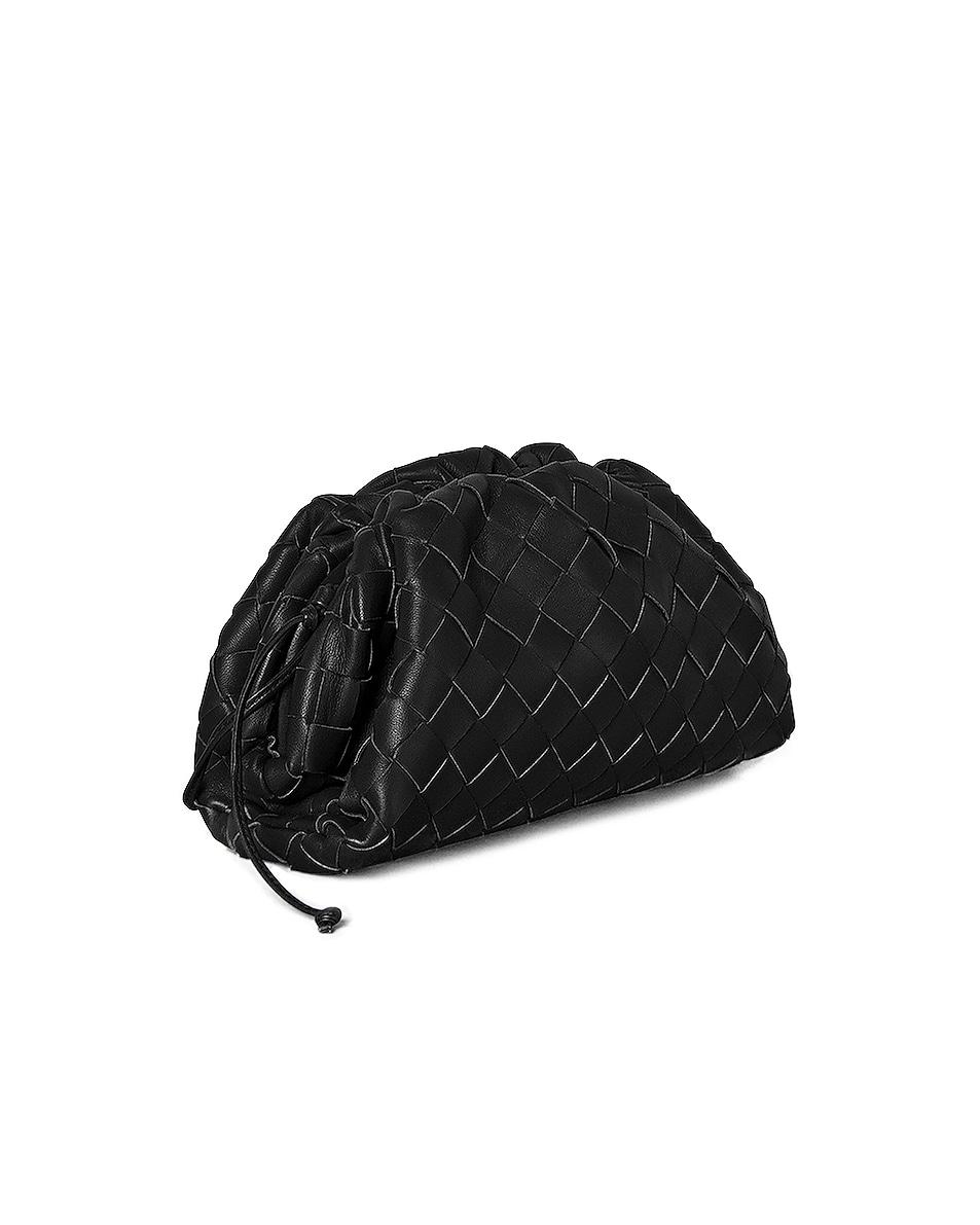 Image 2 of Bottega Veneta Small Woven Pouch in Black