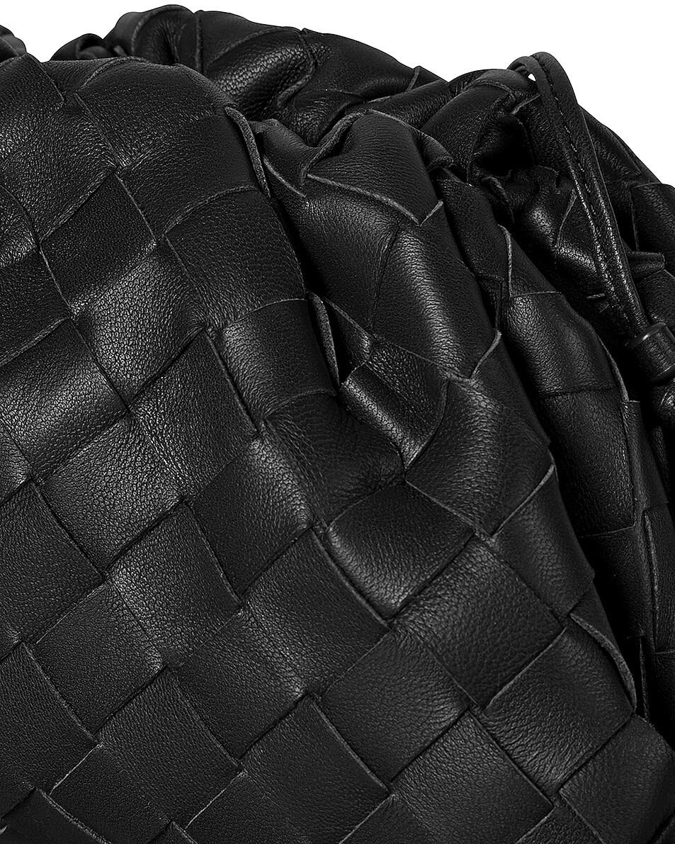 Image 3 of Bottega Veneta Small Woven Pouch in Black