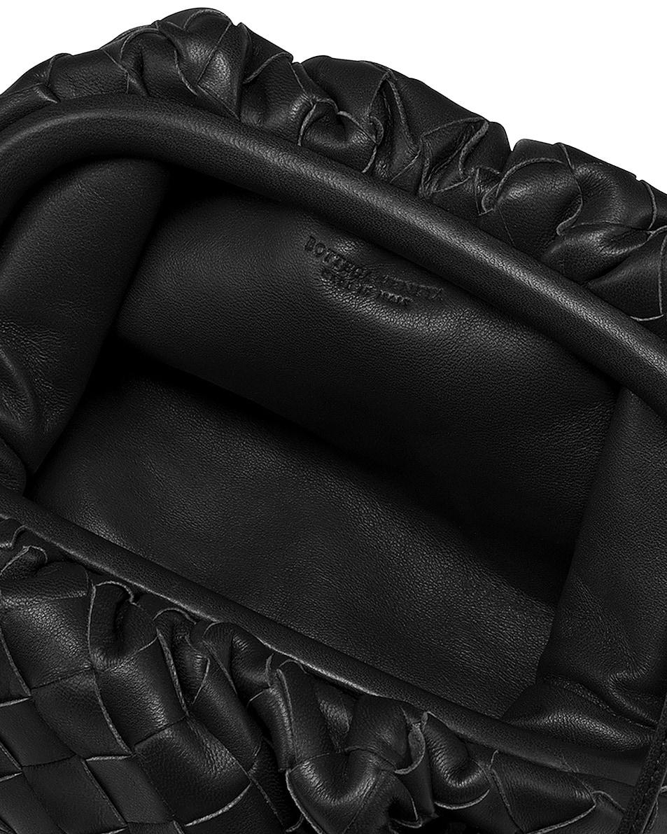 Image 4 of Bottega Veneta Small Woven Pouch in Black