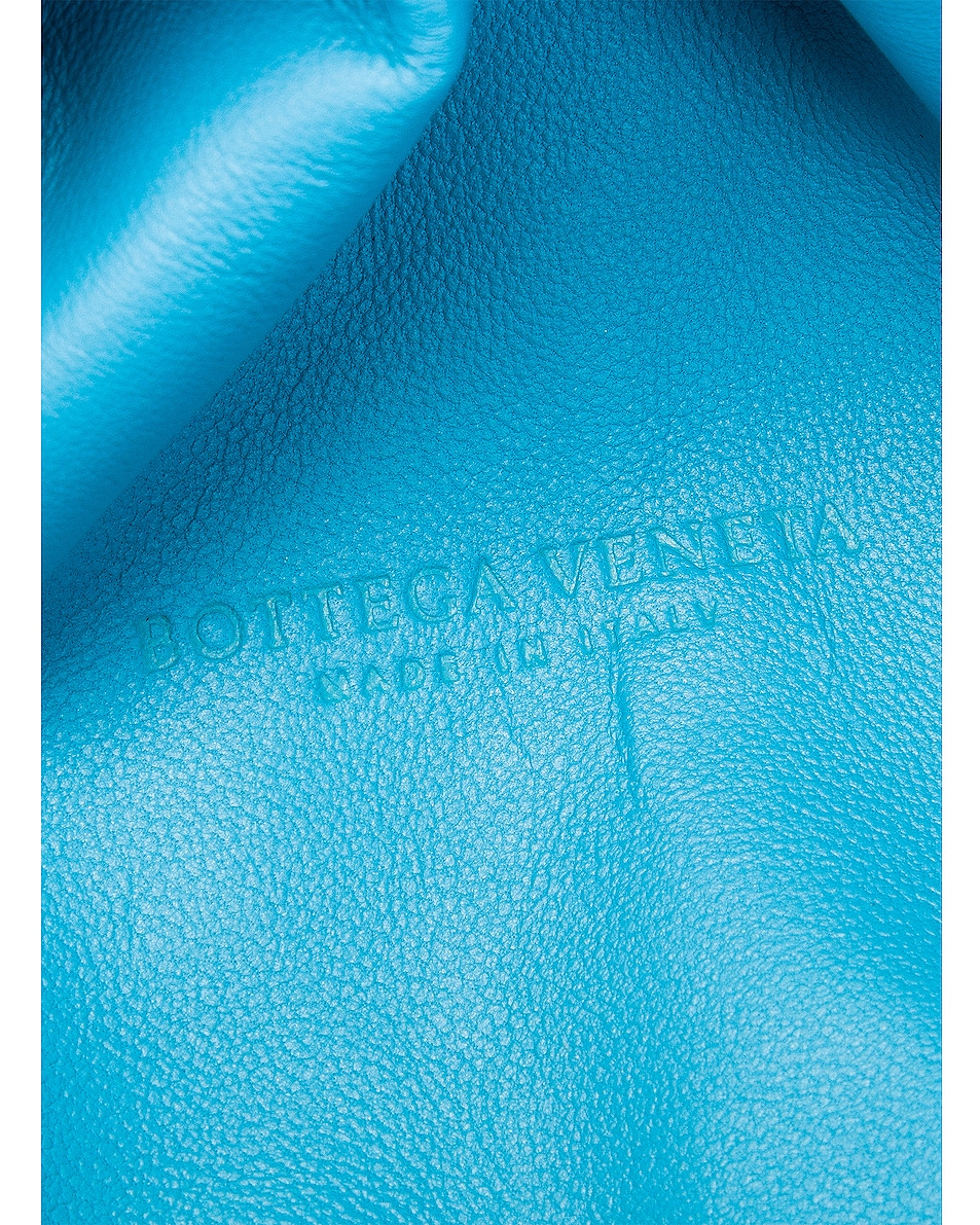 Image 6 of Bottega Veneta Wrinkled The Pouch Clutch in Sky Blue & Silver