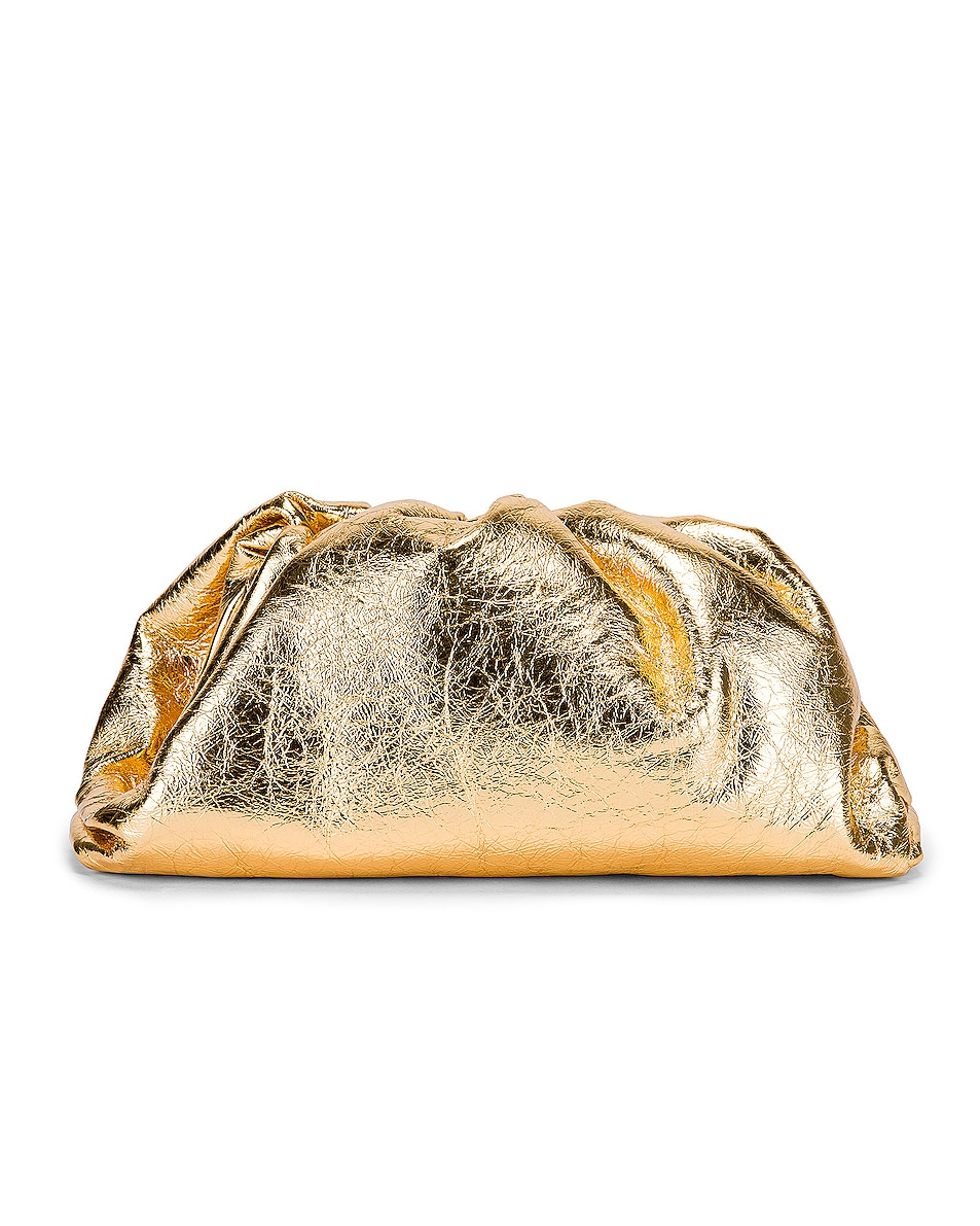 Image 3 of Bottega Veneta Wrinkled The Pouch Clutch in Gold