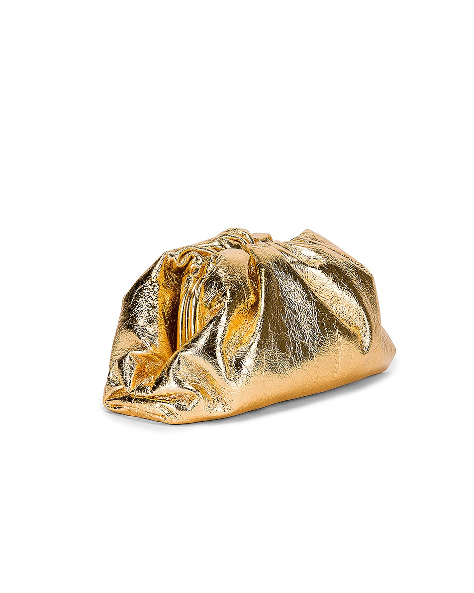Image 4 of Bottega Veneta Wrinkled The Pouch Clutch in Gold