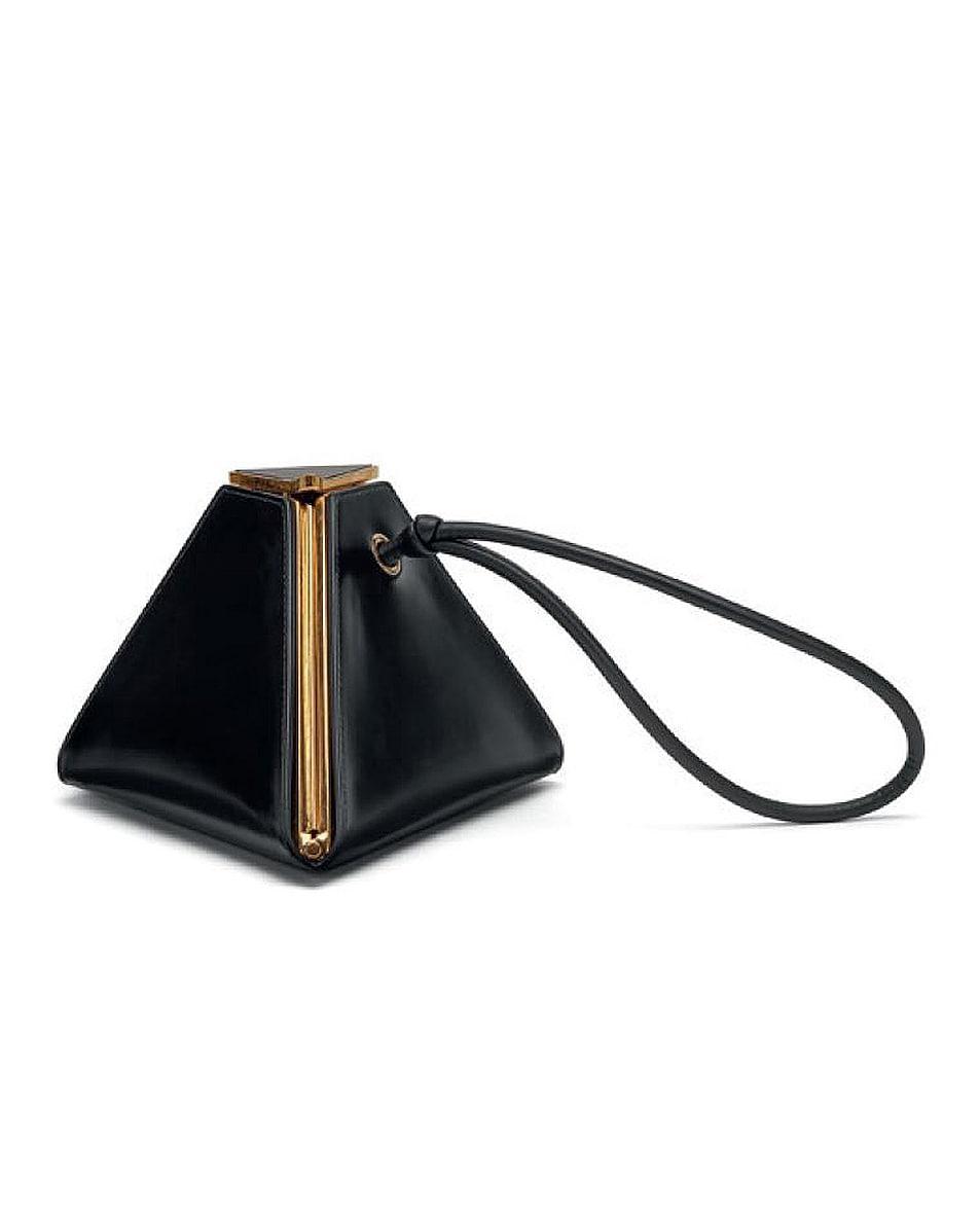 Image 1 of Bottega Veneta Triangle Bag in Black & Gold