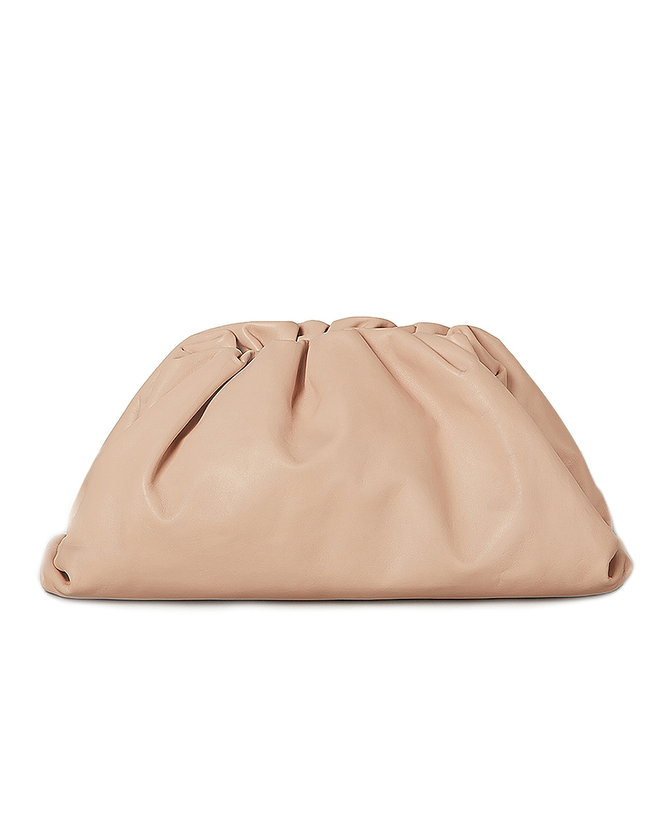 Image 1 of Bottega Veneta Butter Leather The Pouch Clutch in Nude & Gold
