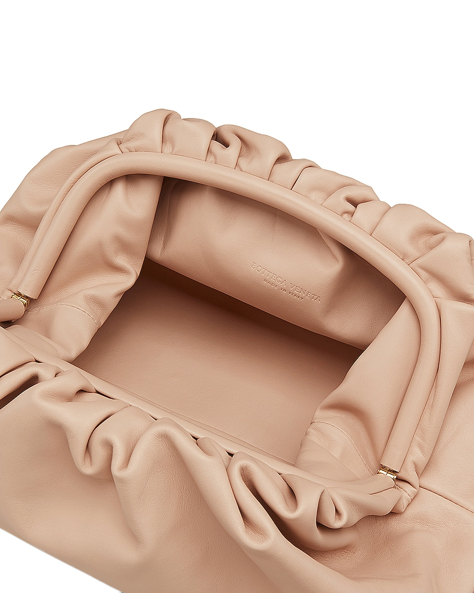 Image 3 of Bottega Veneta Butter Leather The Pouch Clutch in Nude & Gold