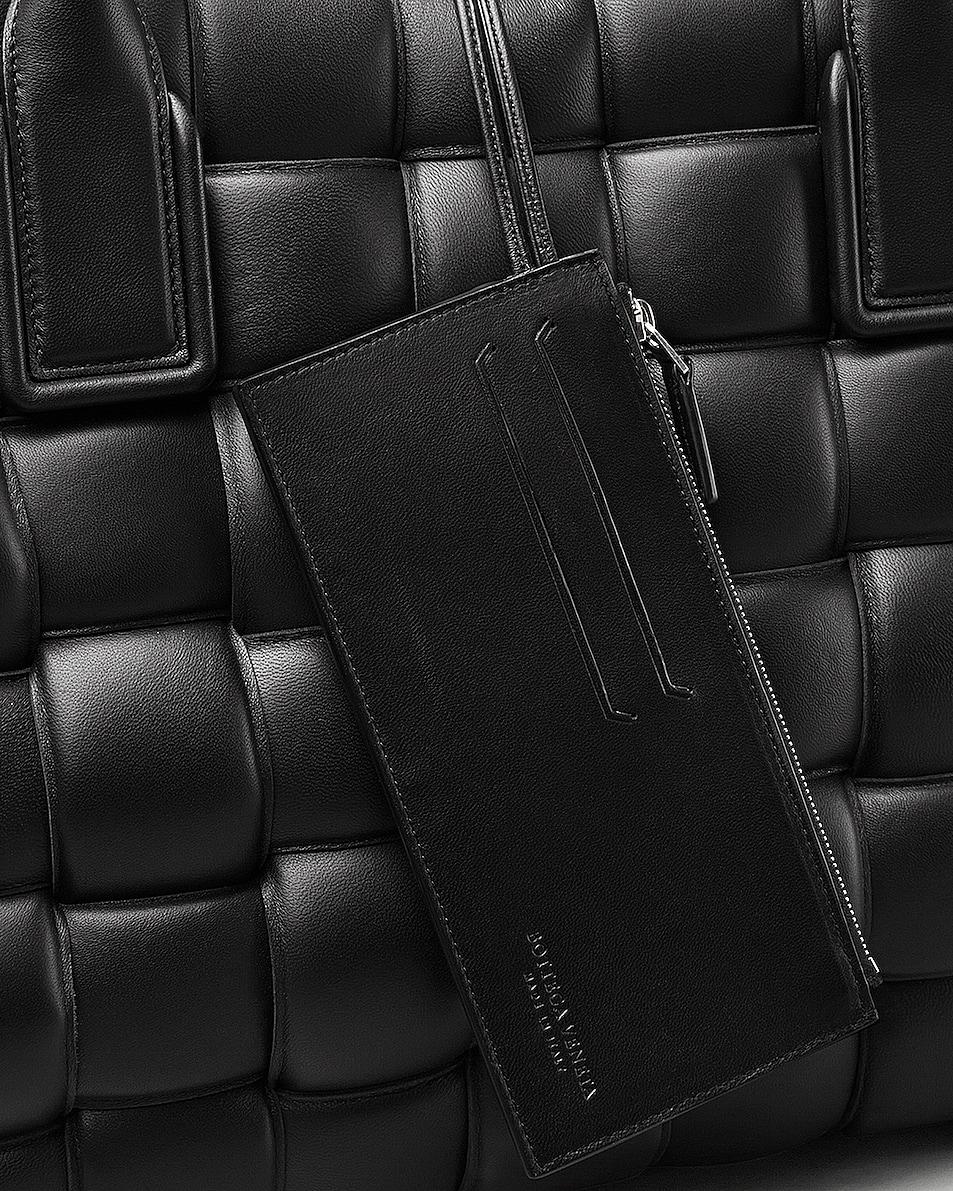 Image 5 of Bottega Veneta Woven Maxi Cabat Tote Bag in Black & Silver