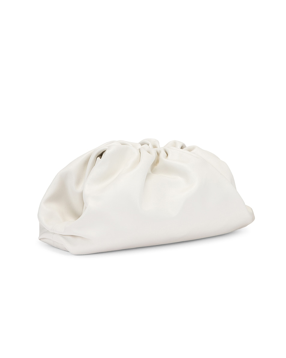 Image 3 of Bottega Veneta Butter Leather The Pouch Clutch in White & Gold