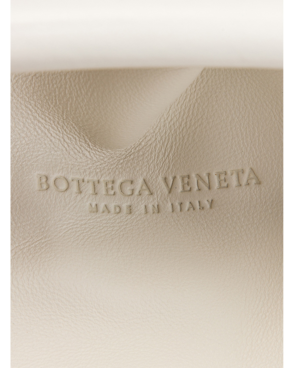 Image 5 of Bottega Veneta Butter Leather The Pouch Clutch in White & Gold