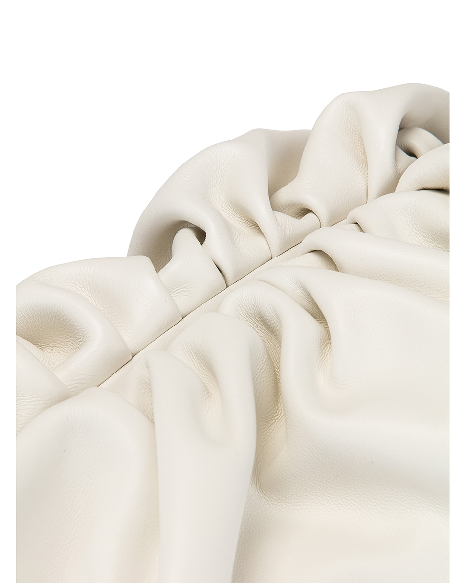 Image 6 of Bottega Veneta Butter Leather The Pouch Clutch in White & Gold