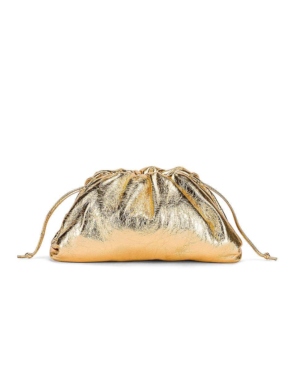 Image 3 of Bottega Veneta Wrinkled The Pouch 20 Clutch Bag in Gold