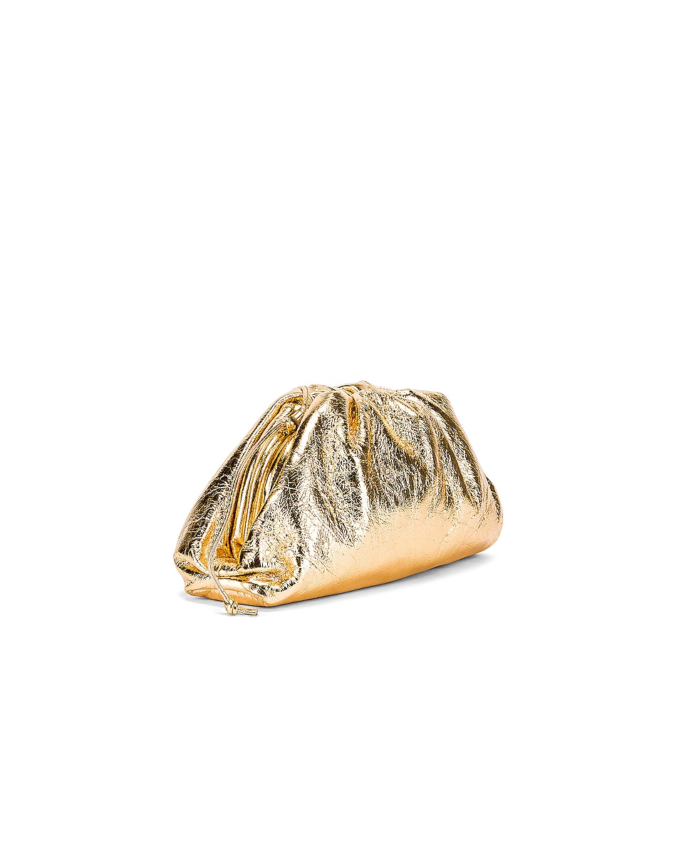 Image 4 of Bottega Veneta Wrinkled The Pouch 20 Clutch Bag in Gold