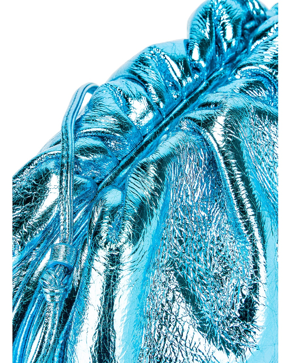 Image 7 of Bottega Veneta Wrinkled The Pouch 20 Clutch Bag in Sky Blue & Silver