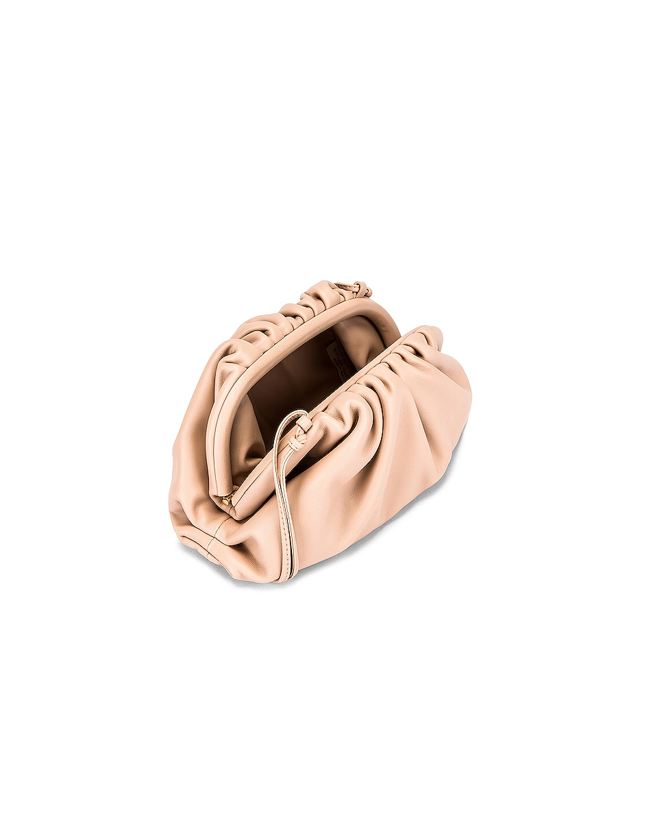 Image 4 of Bottega Veneta Butter Leather The Pouch 20 Clutch Bag in Nude & Gold