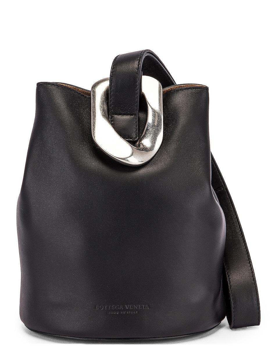 Image 1 of Bottega Veneta Drop Bucket Bag in Black & Silver