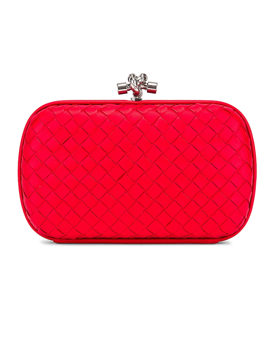 Image 2 of Bottega Veneta Woven Leather Crossbody Bag in Bright Red