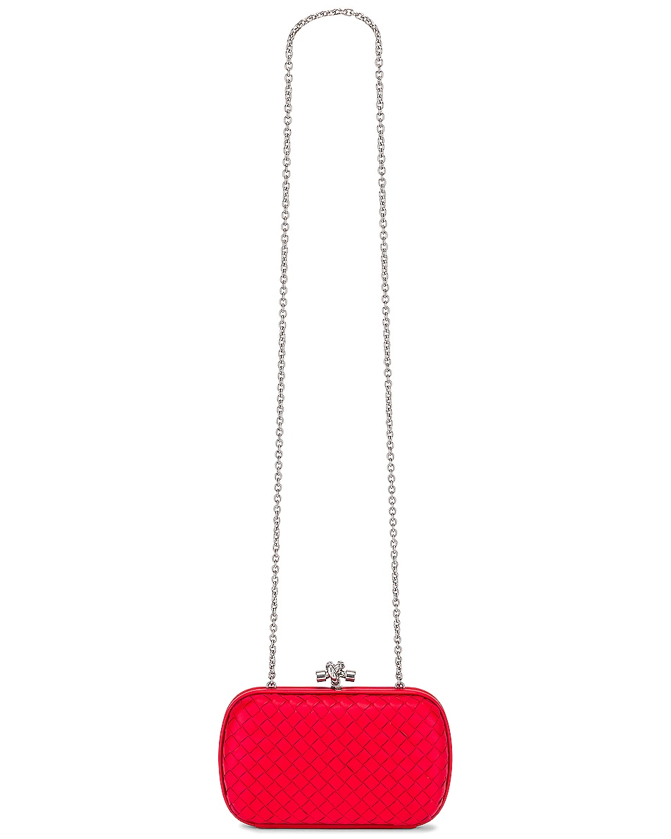 Image 5 of Bottega Veneta Woven Leather Crossbody Bag in Bright Red