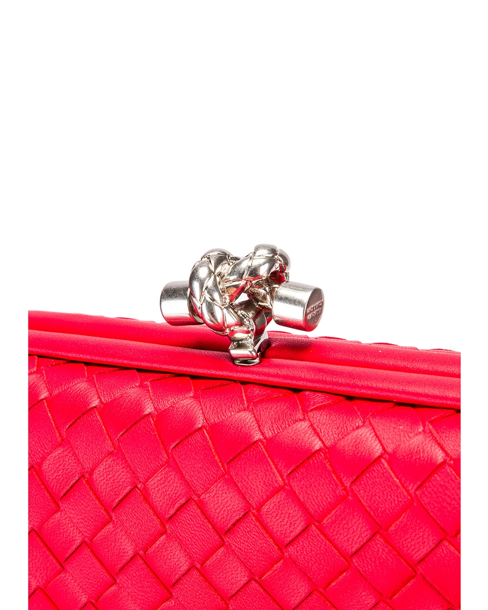 Image 8 of Bottega Veneta Woven Leather Crossbody Bag in Bright Red