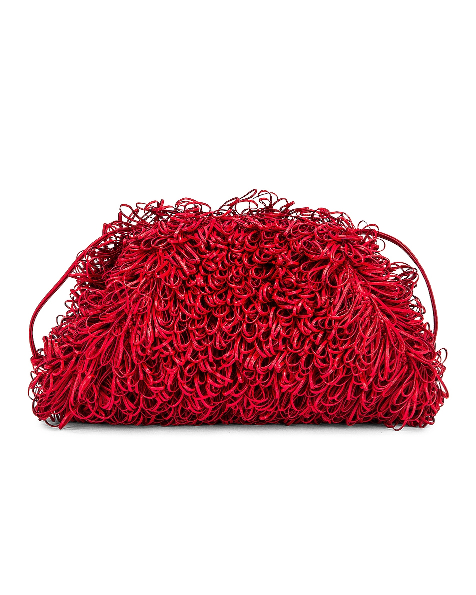 Image 2 of Bottega Veneta Sponge Pouch in Bright Red & Silver