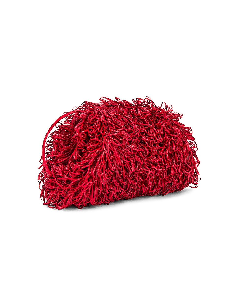 Image 3 of Bottega Veneta Sponge Pouch in Bright Red & Silver