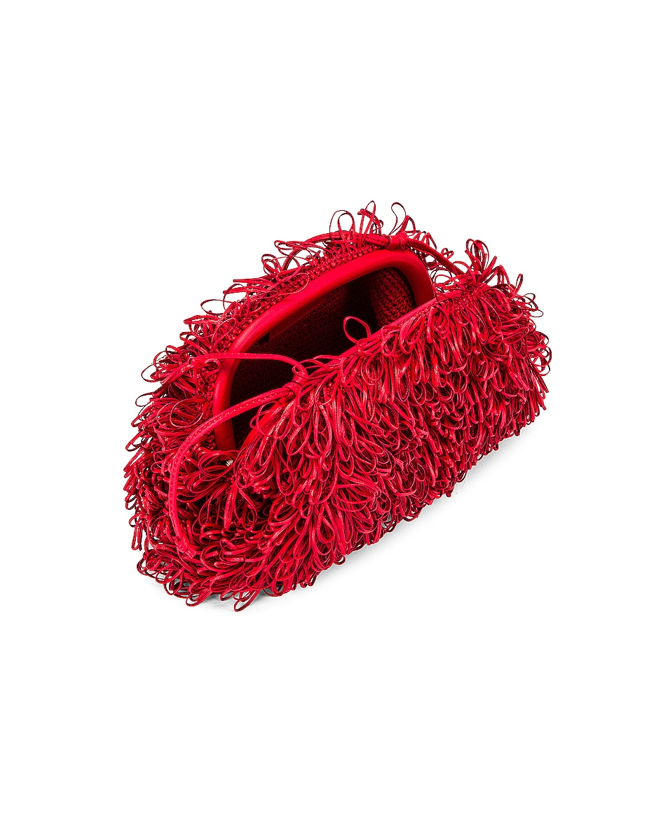 Image 4 of Bottega Veneta Sponge Pouch in Bright Red & Silver