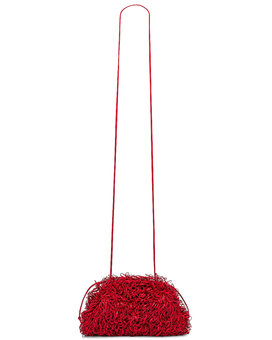 Image 5 of Bottega Veneta Sponge Pouch in Bright Red & Silver