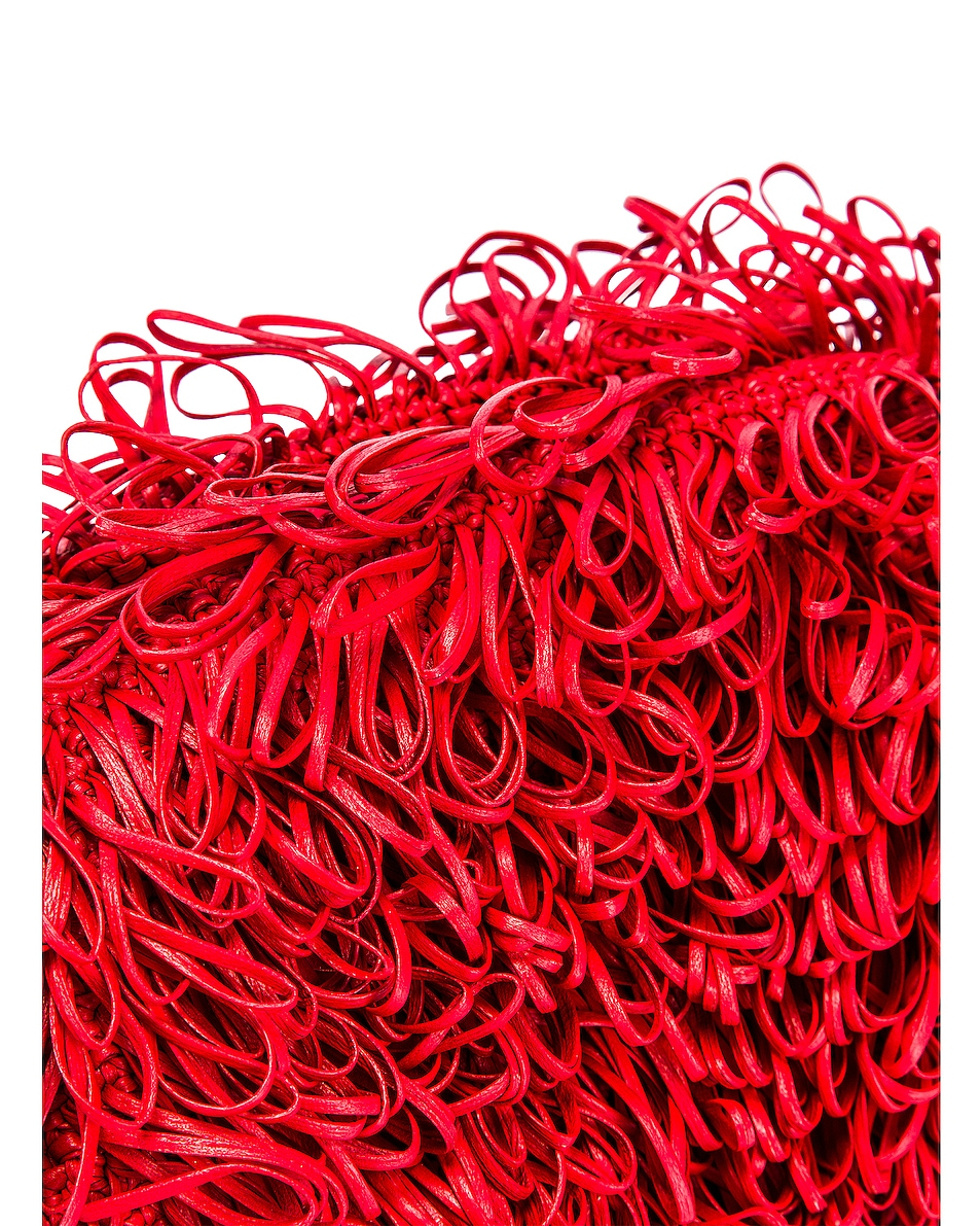 Image 7 of Bottega Veneta Sponge Pouch in Bright Red & Silver