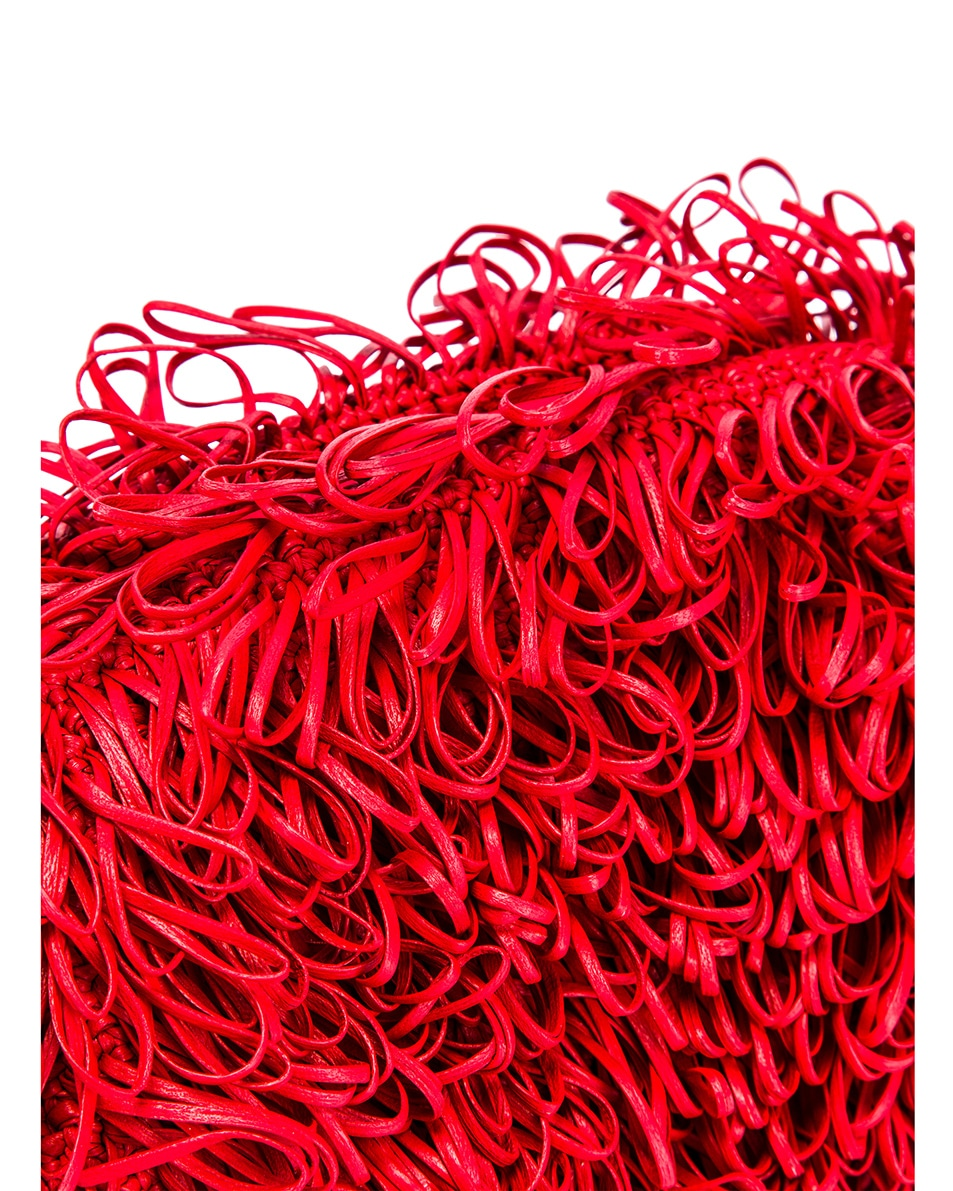 Image 8 of Bottega Veneta Sponge Pouch in Bright Red & Silver
