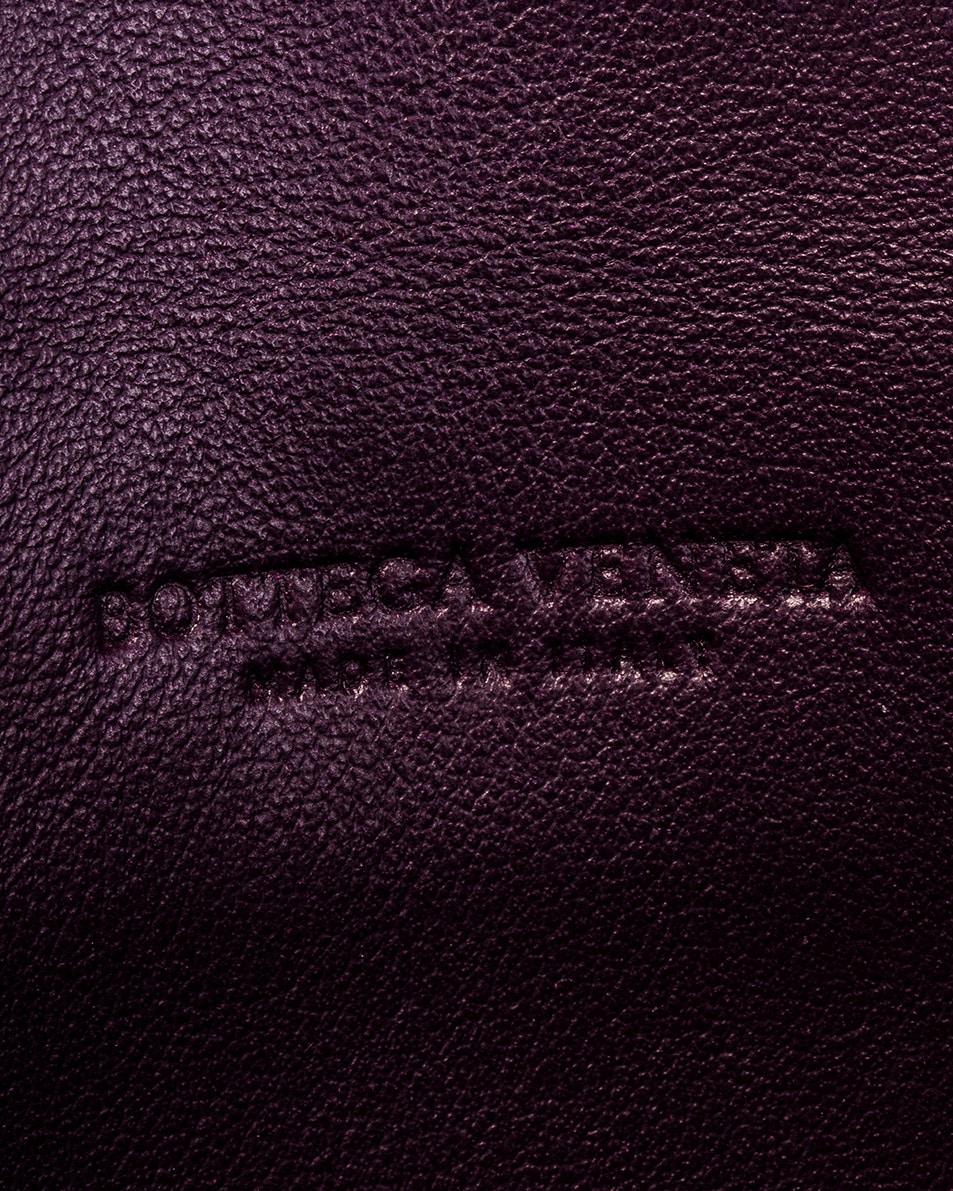 Image 5 of Bottega Veneta Woven Leather Card Case in Amaranto