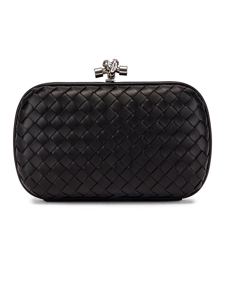 Image 3 of Bottega Veneta Woven Leather Crossbody Bag in Black & Silver