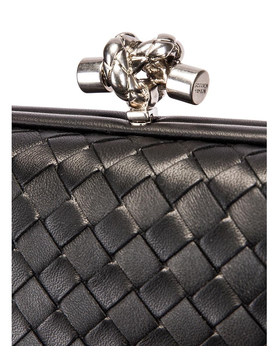 Image 7 of Bottega Veneta Woven Leather Crossbody Bag in Black & Silver