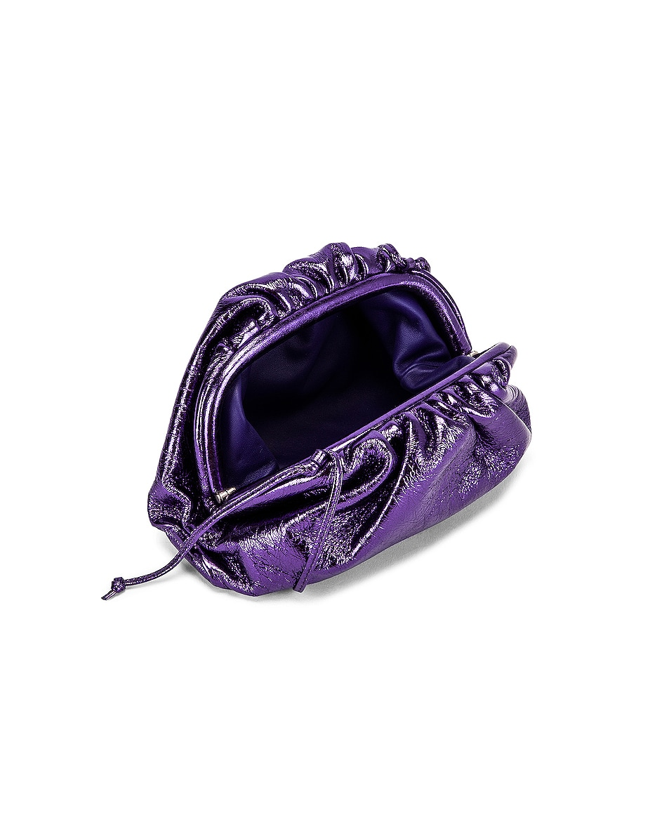 Image 5 of Bottega Veneta Wrinkled The Pouch 20 Clutch Bag in Viola & Silver